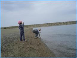 Пляж Иссык-куля рядом с