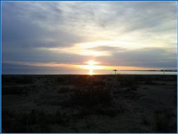 Расвет на пляже рядом с